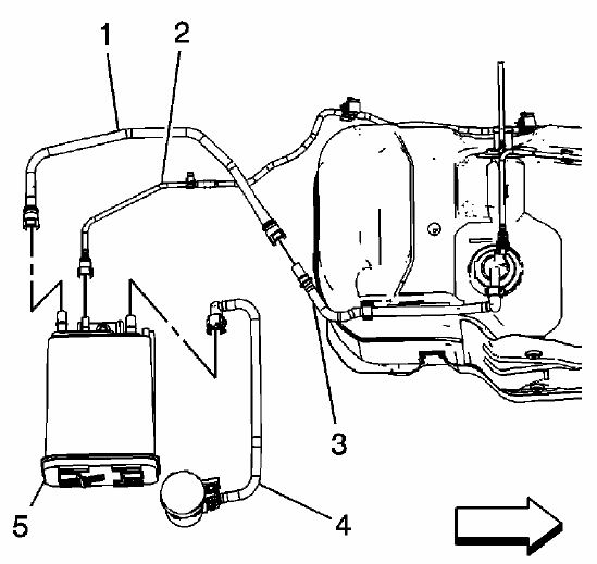 57486 How Replace Your Evap Canister Solenoid P0455 Code on 2003 chevy impala fuel lines diagram