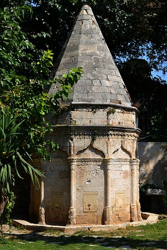 Garden of the Chania Archaeological Museum, Ottoman ablution fountain, September 2011