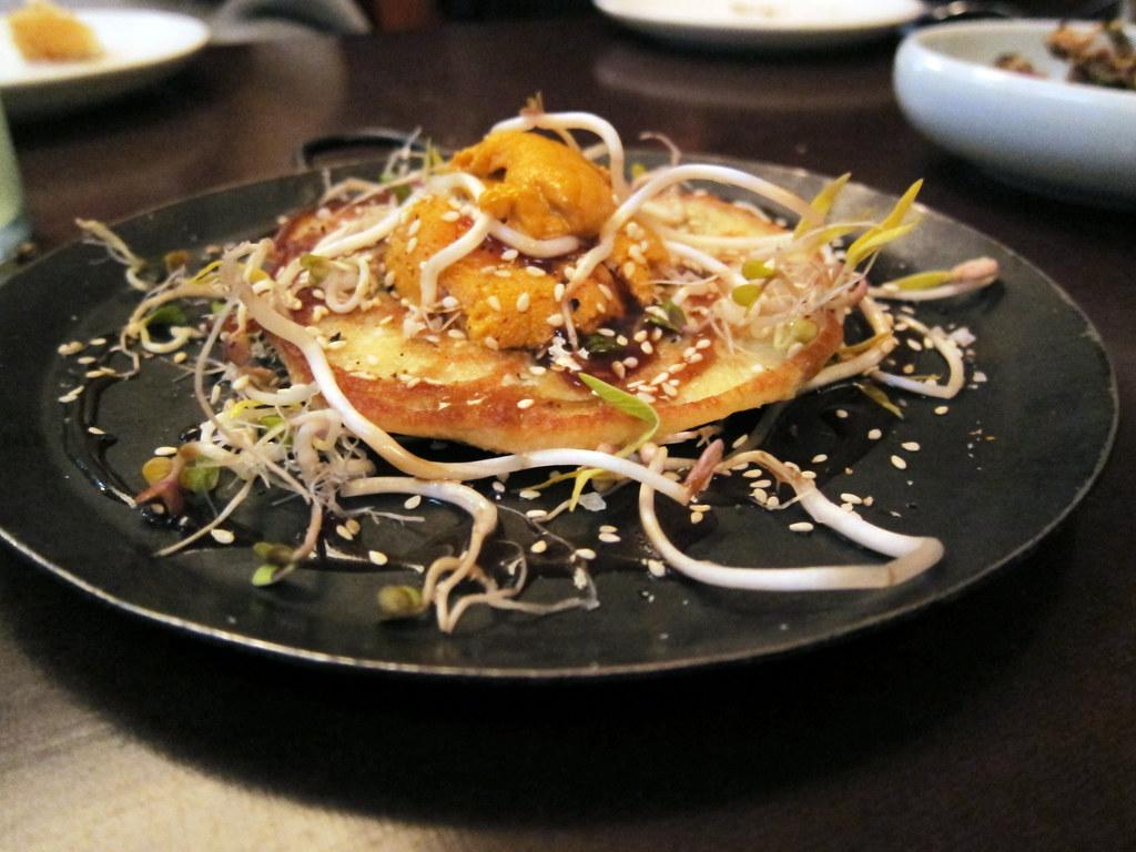 sea urchin pancake