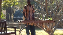 Video: Marimba Player at Victoria Falls Heliport