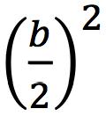 (b/2)^2