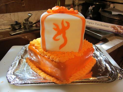 Browning Deer Logo Cake