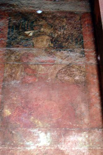 In einer Wandnische im Palast der christlichen Ehefrau ist ein Porträt einer Frau gemalt