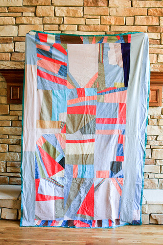 Vintage Crazy Quilt Back by Jeni Baker