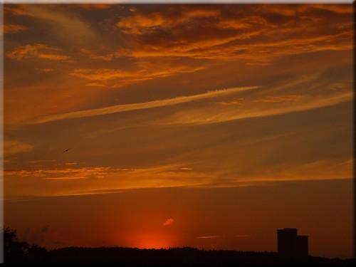 sea sky evening baltic ostsee abendhimmel niendorf