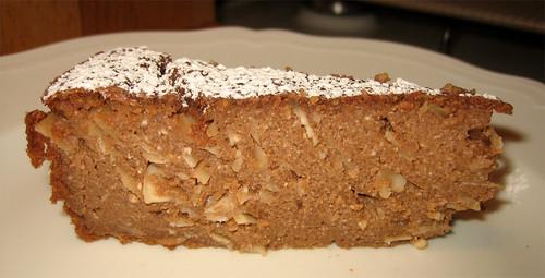 Torta di ricotta e semolino con mandorle in scalie: al doppio cioccolato by fugzu