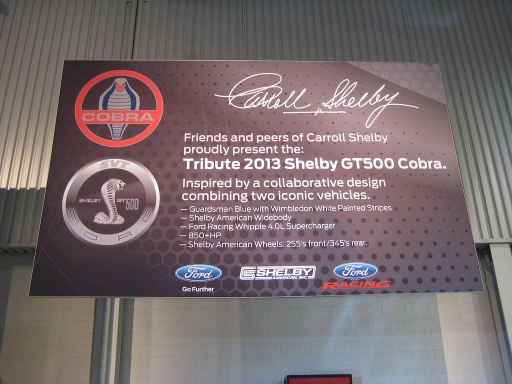Carroll Shelby Tribute - SEMA Show 2012