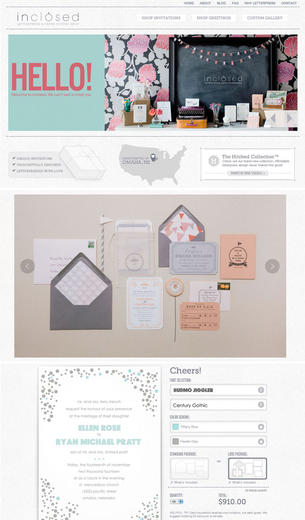inclosed website redesign