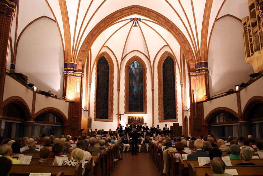 Brunswick Blue Notes performs in the Pauluskirche in Berlin