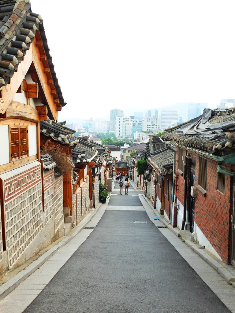 Seoul In Black And White: Bukchon Hanok Village And Neighborhood Of Samcheong-dong