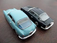 1950s Wrap around rear windows: Alfa-Romeo Giulietta Sprint & Lancia Flaminia Sport Zagato