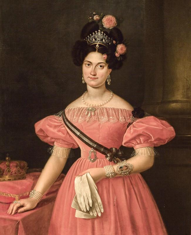 Luis de la Cruz y Rios - María Cristina de Borbón dos Sicilias Reina Regante de España