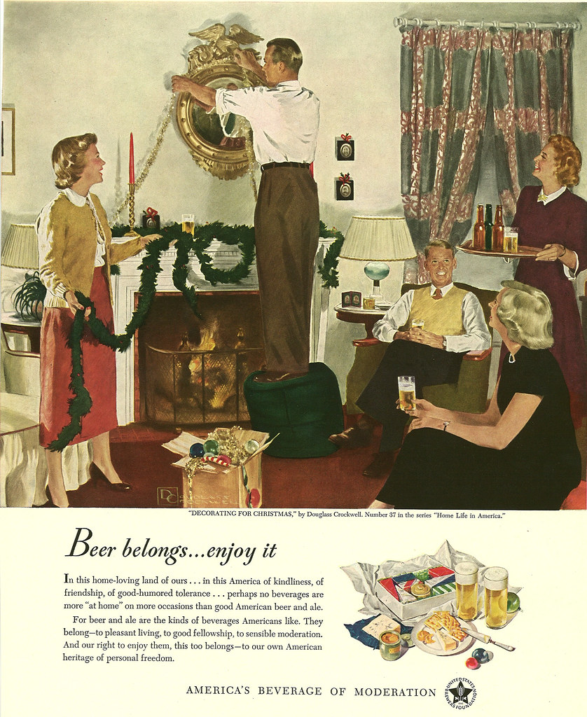037. Decorating For Christmas by Douglass Crockwell, 1949