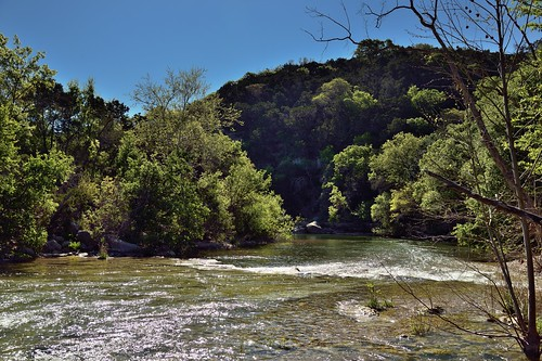 trees nature creek austin stream unitedstates tx blueskies hillside bartoncreek bartoncreekgreenbelt lookingse project365 colorefexpro nikond800e capturenx2edited hillsideoftrees kirkandallvinswall sayinggoodbyetosunshine
