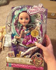I snagged the #17 #madelinehatter doll for $16.49 at #target today! Ive been waiting for her to go on sale. #everafterhigh#mattel#wonderland