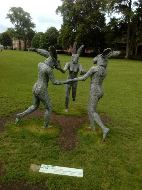 Dancing lady hares