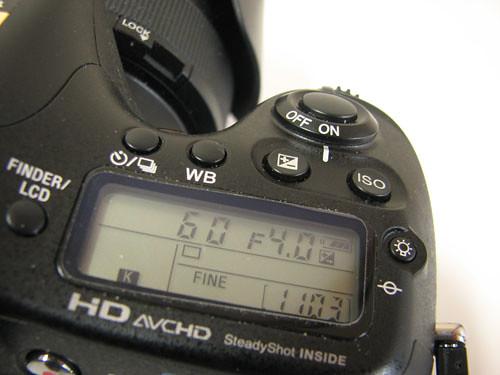 アルファ77の表示モニター