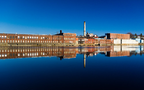 county blue mill water reflections river day pentax sunny clear waterville glassy kennebec winslow kx