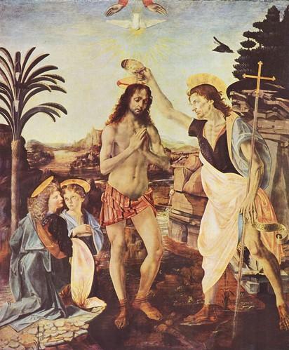 Leonardo da Vinci - The Baptism of Christ