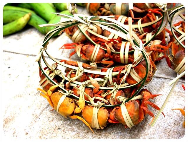 morning market crabs