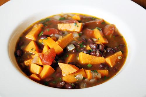 black bean & sweet potato chili.