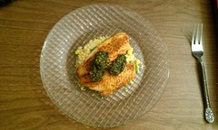 Blackened Fish w/ Pesto and Couscous