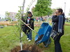 Tree planting with Ms. Charlene Moore Hayes, VP of HR
