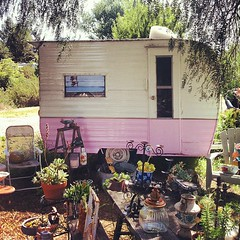 Pink Trash and Treasures #pink #trailer #instagram #iphone