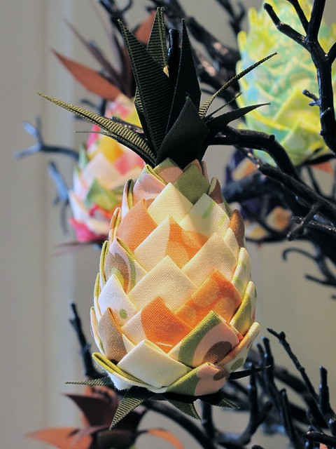 Handmade Fabric Pineapple