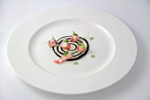 Gamberi e calamari al Franciacorta di Fabrizio Albini