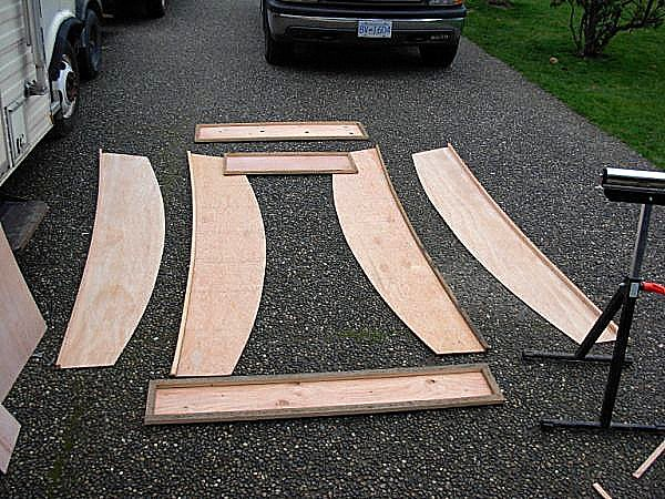 Small number of plywood parts for the OzRacer RV sailboat.  Simpler than before