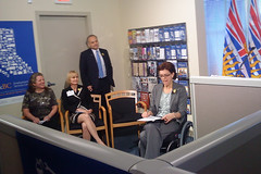 The opening of WorkBC Employment Services Centre