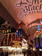 Las Vegas-Cowboy in der Fremont Street
