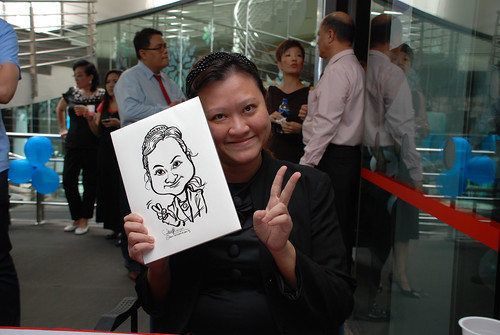 Caricature live sketching for Singapore Suntec City Annual Party - 3