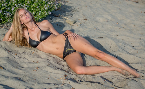Nikon D800 Photoshoot of Bikini Swimsuit Model in Malibu by 45SURF Hero's Journey Mythology Goddesses