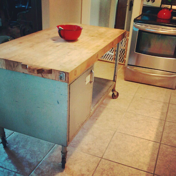 Industrial Butcher Block Island