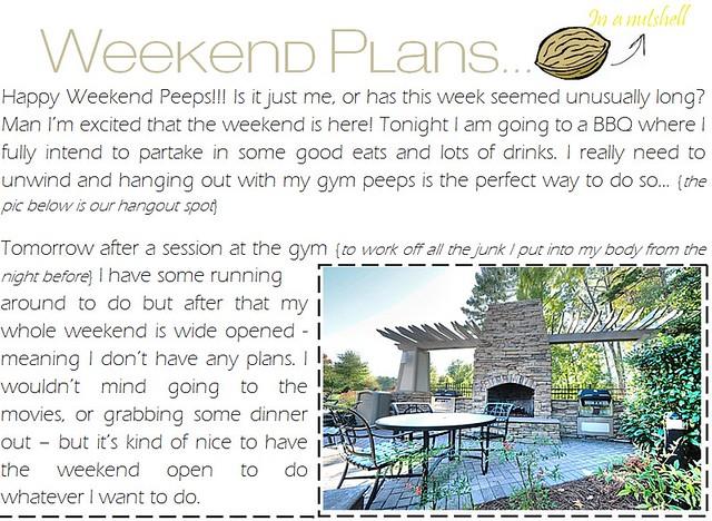 weekend plans 4.27.12