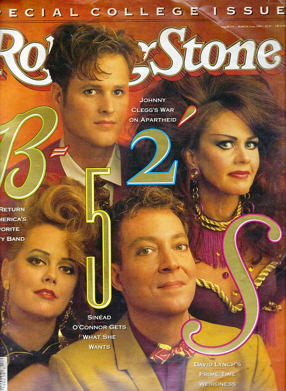 The B-52's Rolling Stone Magazine March 22 1990