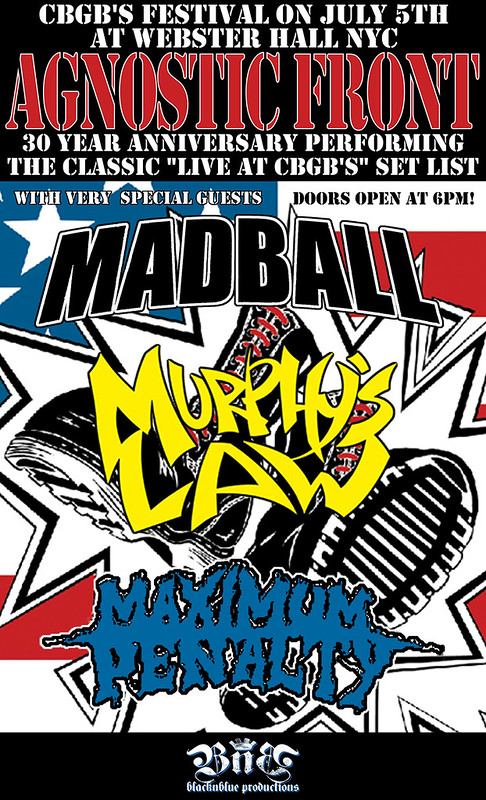 07-05-12 Agnostic Front/Madball/Murphy's Law/Maximum Penalty @ Webster hall, NYC, NY