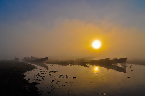 morning travel water fog sunrise geotagged boat nikon burma myanmar inlelake d90 kaungdaing