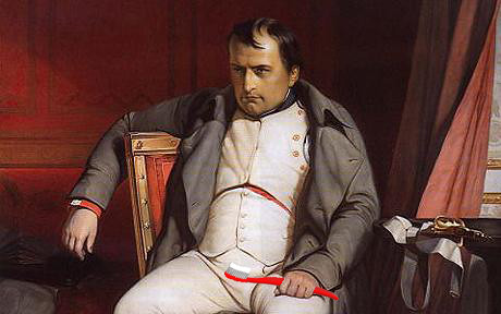 Napoleon with red toothbrush