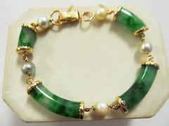 Ming's Unmarked Jade Pearl Bracelet