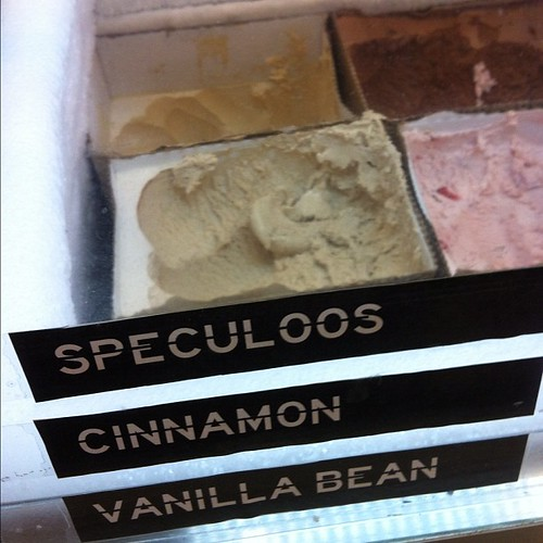 Ice cream flavors.