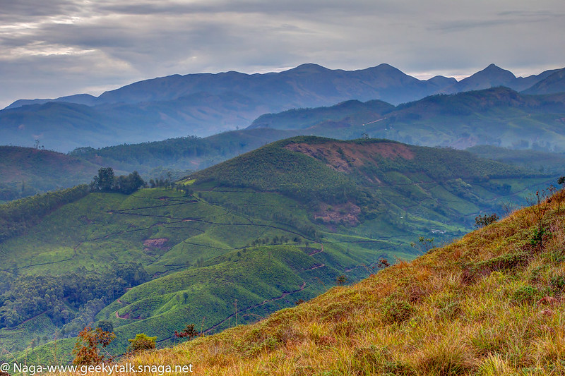 Stack of mountains (HDR), Munnar