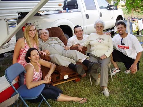 Grandkids with Grandpa and Grandma Roland