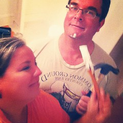 we know how to spend a steamy summer evening together #diy #summer #love #homeimprovement #thisoldhouse