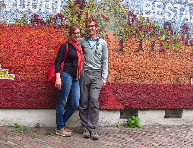 Us in Amsterdam-- The Last Photo of our Trip!