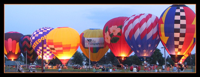 Night Balloons, Monroe, WI