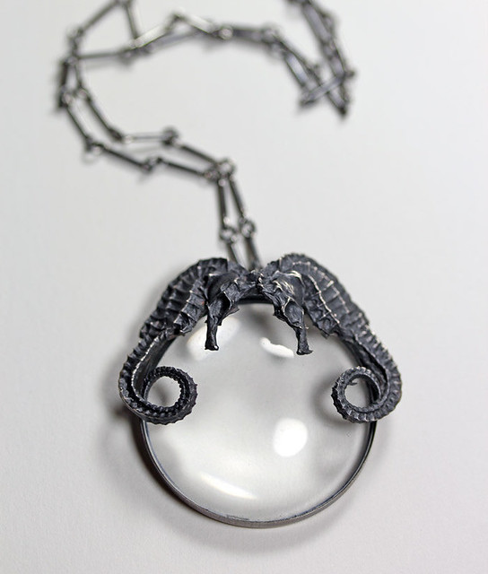 ariel. conjoined spyglass necklace.