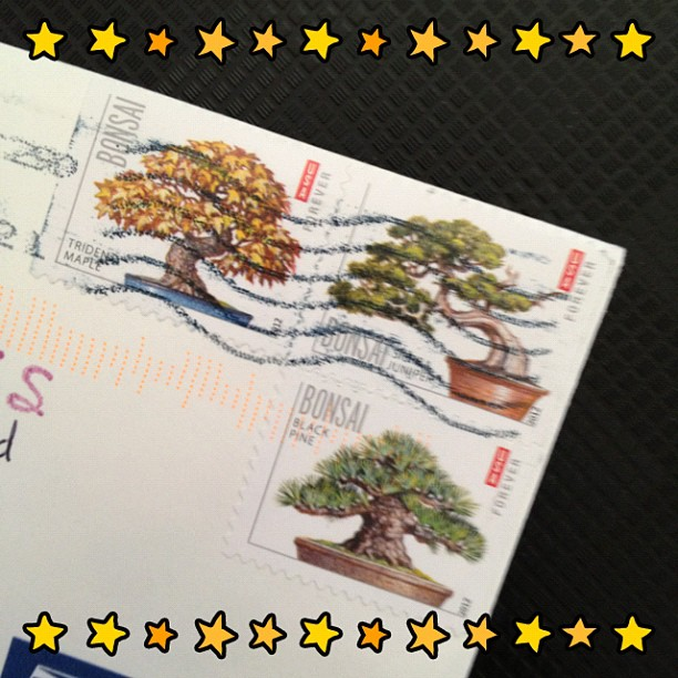 #thankyou #card #stamp #postage #bonsaitree